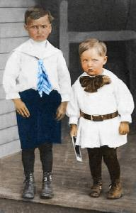 Albert & Harry Limes photo colorized