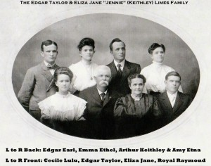EDGAR TAYLOR LIMES & FAMILY PHOTO