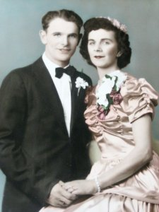 FLOYD AND IRENE ZAGORSKY FERNER MARRIAGE PICTURE