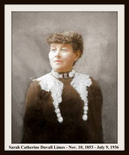 SARAH CATHERINE DUVALL LIMES WITH LACE COLLAR COLORIZED WITH FRAME & TEXT