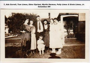TOM LIMES, ADA EDNA POLLY & ERNIE LIMES JR