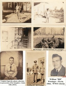 "William ""Bill"" Wissinger of Elyria, Ohio. He was a WWII veteran. He listed an address of 1701 Lorain Blvd, Elyria, Ohio on one of the photograhs. He is buried at St. Mary's Catholic Cemetery in Elyria, Ohio."
