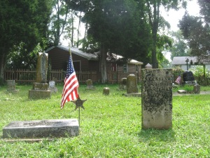 8-9-2014 - Walnut Creek Cemetery - Athaliah Limes after cleaning & William Limes stone