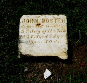 8-9-2014 - Walnut Creek Cemetery - John Doster broken stone
