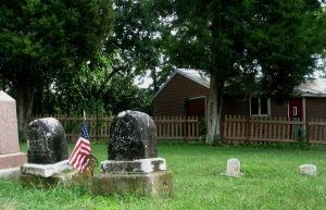 8-9-2014 - Walnut Creek Cemetery - Mariah Doster Ellis & Levi Ellis stones after cleaning
