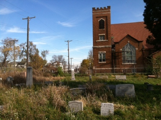 This is what Old Greencastle Cemetery looked like when I visited in 2012. I had no idea that everything was about to change.