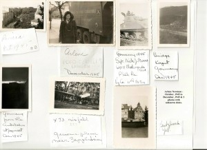 ARLENE NEWMAN PHOTOS - Dec 1945 Germany & 2 unknown dates