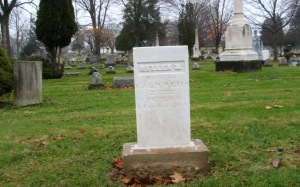 BEDFORD CEMETERY - 12-13-2014 - HELLEN M WELLS STONE LOOKS TO BE NYALOXED