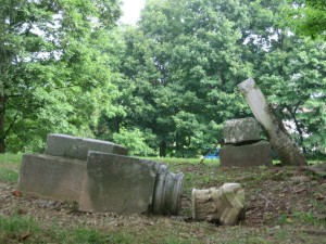 BUTCHER CEMETERY - TOPPLED OVER STONES - smaller
