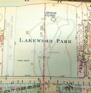 1927 LAKEWOOD PARK MAP FROM BILL BARROW
