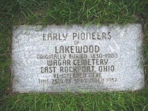 Early Pioneer of Lakewood Marker Photo