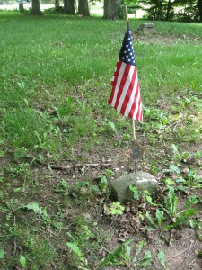 June 5 2015 - Butcher Cemetery CE Evans stone almost sunken down