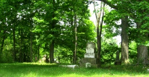 June 5 2015 - Butcher Cemetery long shot broken monument on ground-2