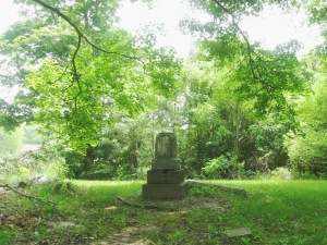 June 5 2015 - Butcher Cemetery long shot broken monument