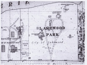 LAKEWOOD PARK MAP - 1941 FROM CPL