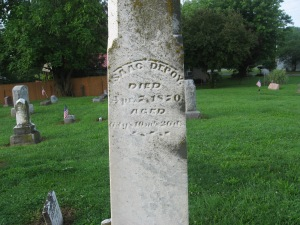 ISAAC DEPOY - STAUNTON CEMETERY - 7-17-2015 - CLOSE UP