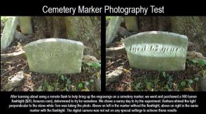 CEMETERY PHOTOGRAPHY FOR READING A TOMBSTONE - 10-9-2015