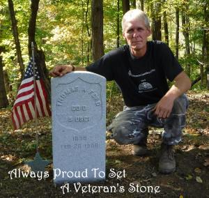 MARK MORTON - 10-9-2015 - PROUD TO SET A VETERAN STONE