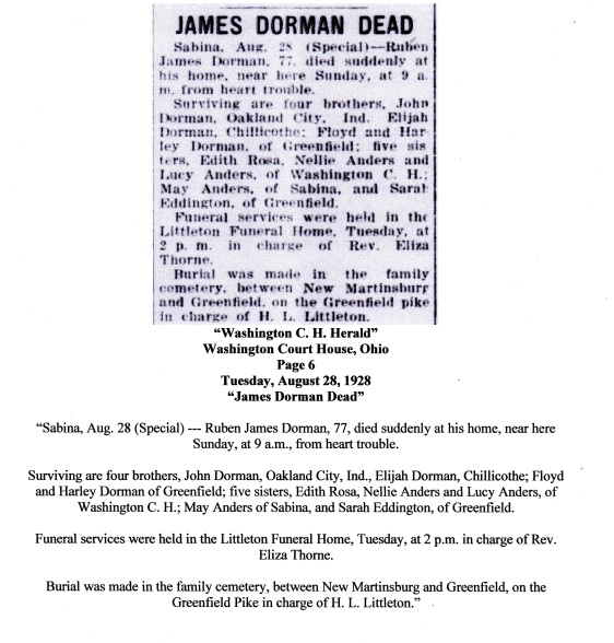 RUBEN DORMAN OBITUARY