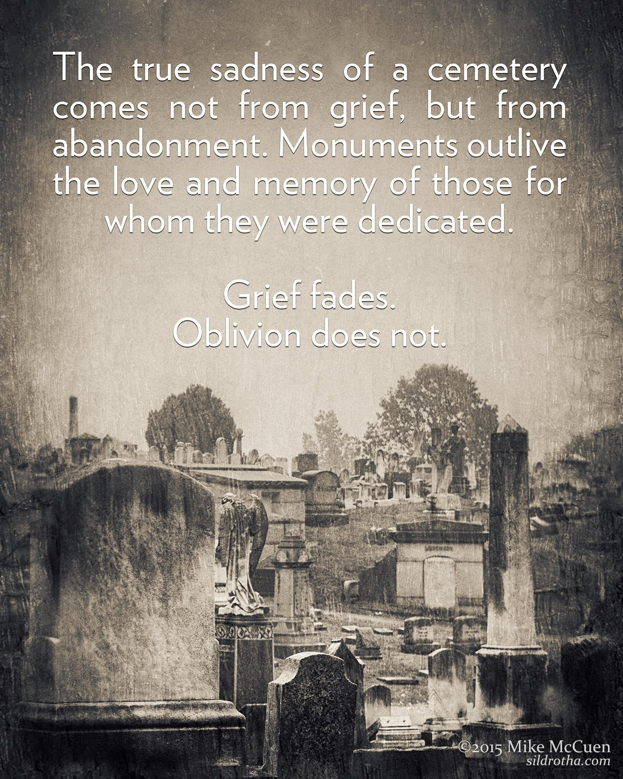 THE TRUE SADNESS OF A CEMETERY