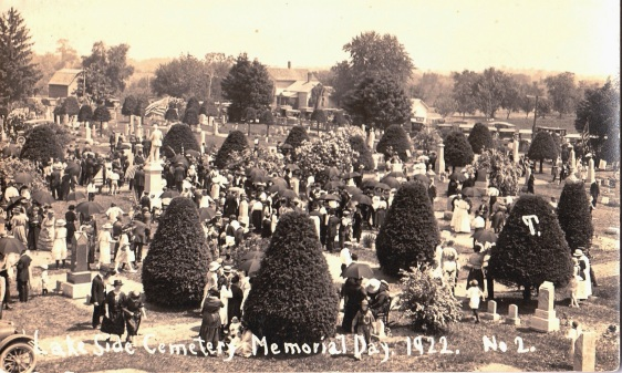 Lakeside Cemetery post card - 1922_0001