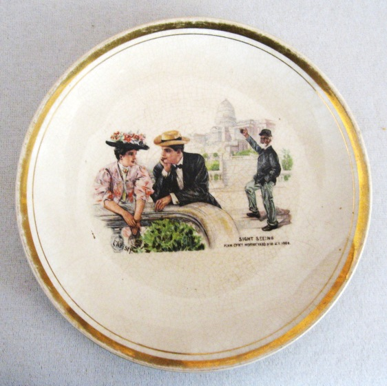 CHRISTY PLATE - DRESDEN CHINA - FRONT