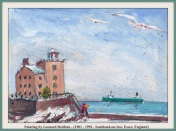 LEONARD REDFARN BOAT & LIGHTHOUSE WITH TEXT