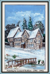LEONARD REDFARN TUDOR HOUSES WITH TEXT - 2
