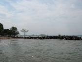 CENTURY PARK LORAIN - 6-1-2016 LOOKING WEST FROM STANDING ON PIER