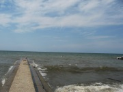 CENTURY PARK LORAIN - 6-1-2016 - WAVE BREAKING ONTO PIER