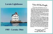 LORAIN - LIGHTHOUSE AND VOICE OF THE PEOPLE LINDA LIMES LETTER TO THE EDITOR