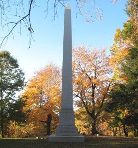 Rockefeller family monument.