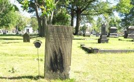 RIDGELAWN CEMETERY - OCTOBER 17 2017 - MRS CLAMANCEY MANN MARKER DIED 1825 - 3