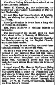 THE NEWS-HERALD HILLSBORO OHIO - JUNE 9 1887 - DICKEY