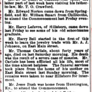 THE NEWS-HERALD HILLSBORO OHIO - JUNE 9 1887- WILLIAM LIMES