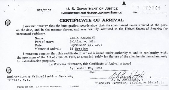 MARIE ZAGORSKY PETITION FOR NATURALIZATION - 3