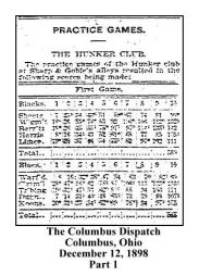 columbus dispatch - december 12 1898 - practice games - the hunker club - bowling - limes name in listing - 1 - with text and frame