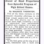 columbus dispatch - february 12 1922 - high school of commerce basketball limes name in listing - 1 - with text and frame