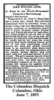 columbus dispatch - june 7 1893 - beardsley limes - new martinsburg story - with text and frame