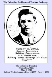 columbus dispatch - may 8 1921 - columbus builders and traders exchange - robet limes bottom row - close up - with text and frame