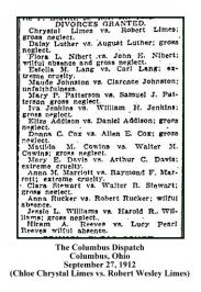 columbus dispatch - september 27 1912 - chrsytal limes vs robert limes divorce granted - with text and frame