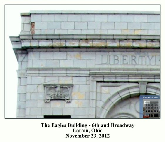 EAGLES BUILDING CLOSE UP - NOVEMBER 23 2012 WITH TEXT AND FRAME