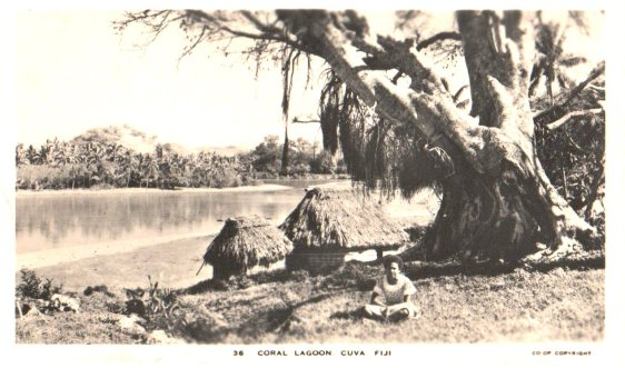 WWII PHOTOS - VIRGINIA ZAGORSKY - #36 CORAL LAGOON CUVA FIJI