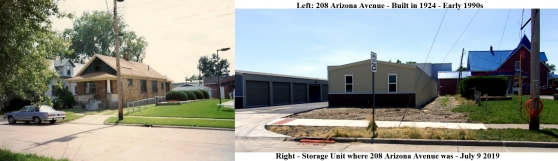 SIDE BY SIDE - 208 ARIZONA AVENUE - EARLY 1990S & JULY 9 2019