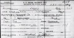 MICHAEL JOSEPH OTT - MIKE SHERWOOD - US SOCIAL SECURITY APPLICATION